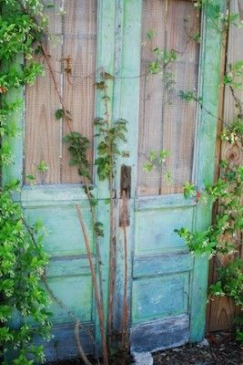 Rustic torquoise door -- I want to be there...