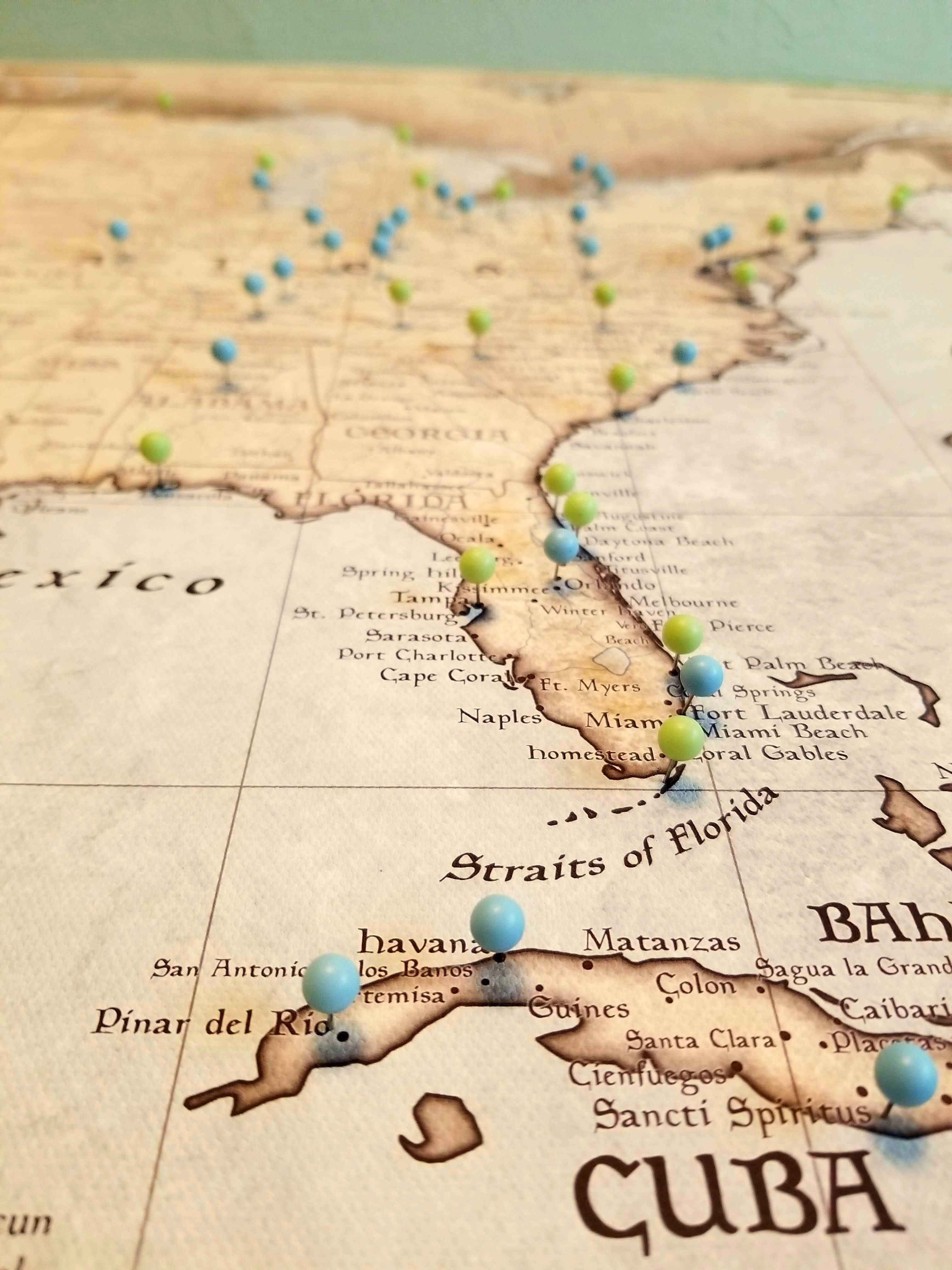 usa travel map pin board w push pins rustic vintage in 2018