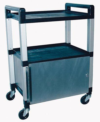 `Utility Poly Cart w/Cabinet