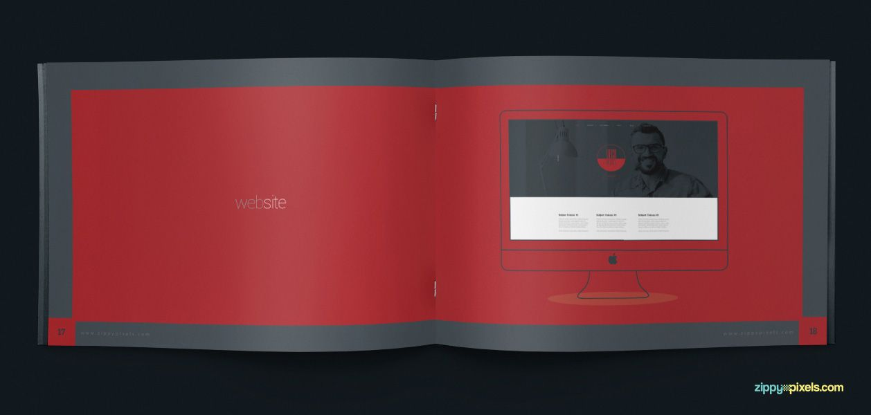 Wesbsite Presentation - Brand Book Template for Corporate Guidelines ...