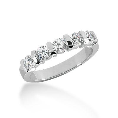Beautiful 14k White Gold Diamond Wedding Band