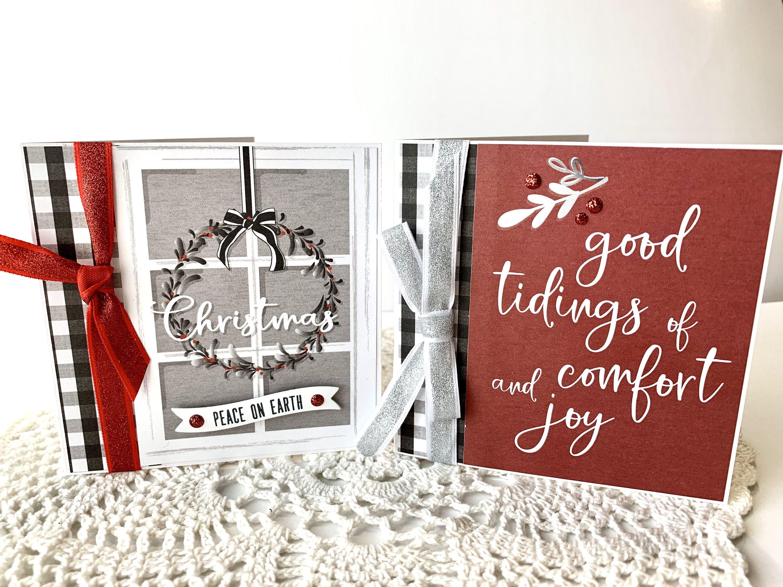Christmas gift card money holder set of 2 handmade in