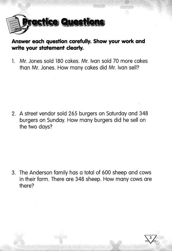 SAMPLE of Singapore Math Challenging Word Problems for Primary - best of letter writing format singapore