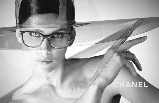 Laetitia Casta wears transparent hat in Chanel Eyewear  9c04a6b6417
