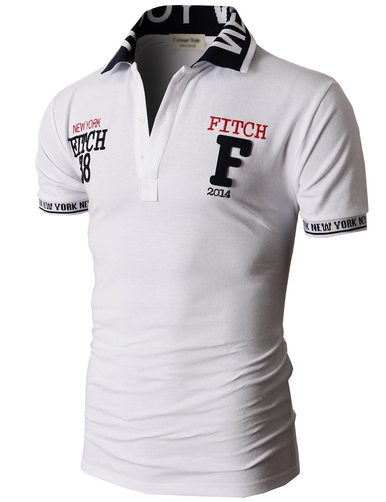 Doublju Fashion Pique Cotton Polo Shirts with Short Sleeve (KMTTS0114)   doublju Camisa Caballero cd4ccb0d0ca1a