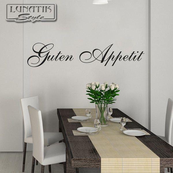 Wandtattoo Guten Appetit Spruch Schriftzug - WS22 - wandtattoo küche guten appetit