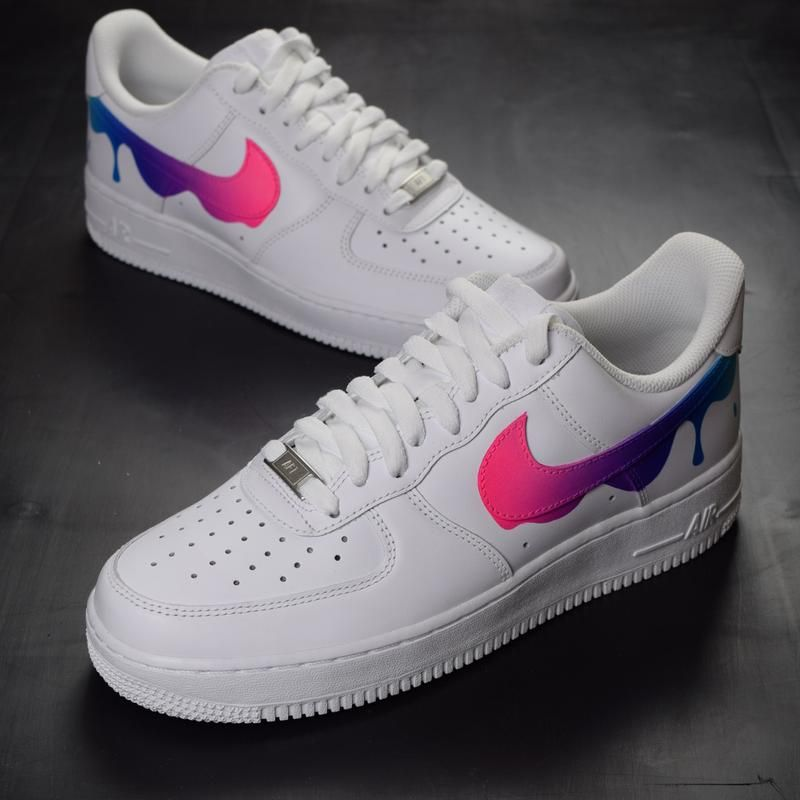 Nike air force 1 paint drip custom shoes | yes in 2019 | All