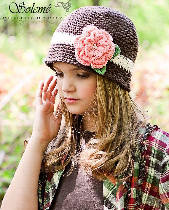 Girls Crochet Cloche Beanie Vintage by KerensHatBoxBoutique, $24.00 ...