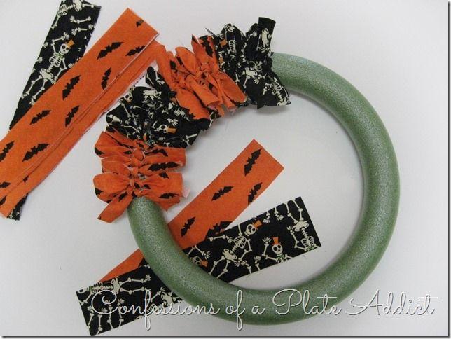 Photo of Easy Halloween Fabric Wreath…Just Tie It!