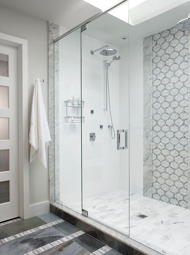See Sarah Richardson S Beautiful Kitchen Design For Monogram Canada Bathroom Shower Walls Sarah Richardson Bathroom Shower Wall Tile
