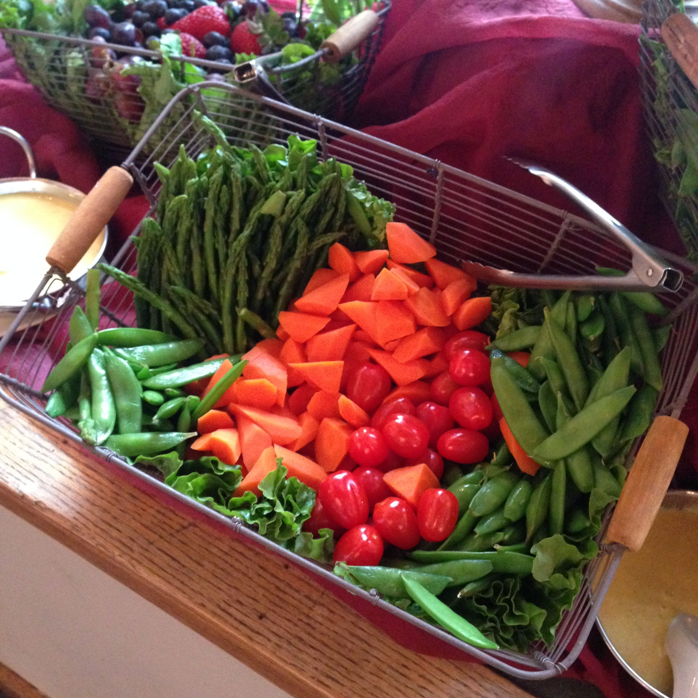 Crisp and Lively Vegetables at Delille Cellars for Women and Wine Event. Catering. Wine Pairing. Bothell Caterer. www.alexascafe.com
