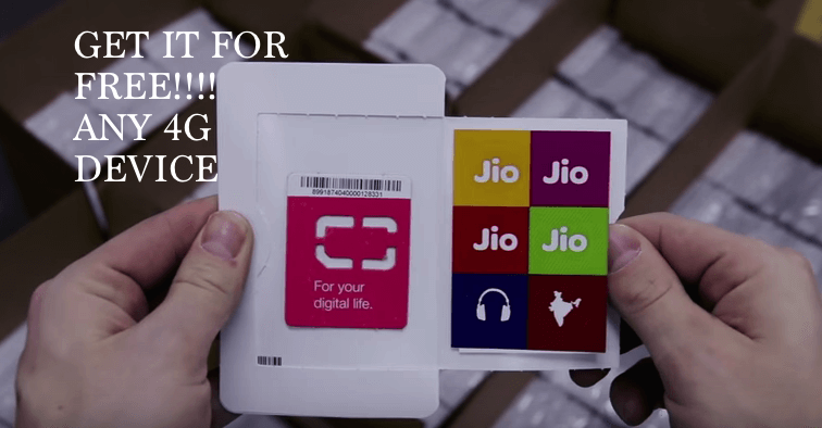 Now, get Jio sim for any smart phone with Unlimited 4g