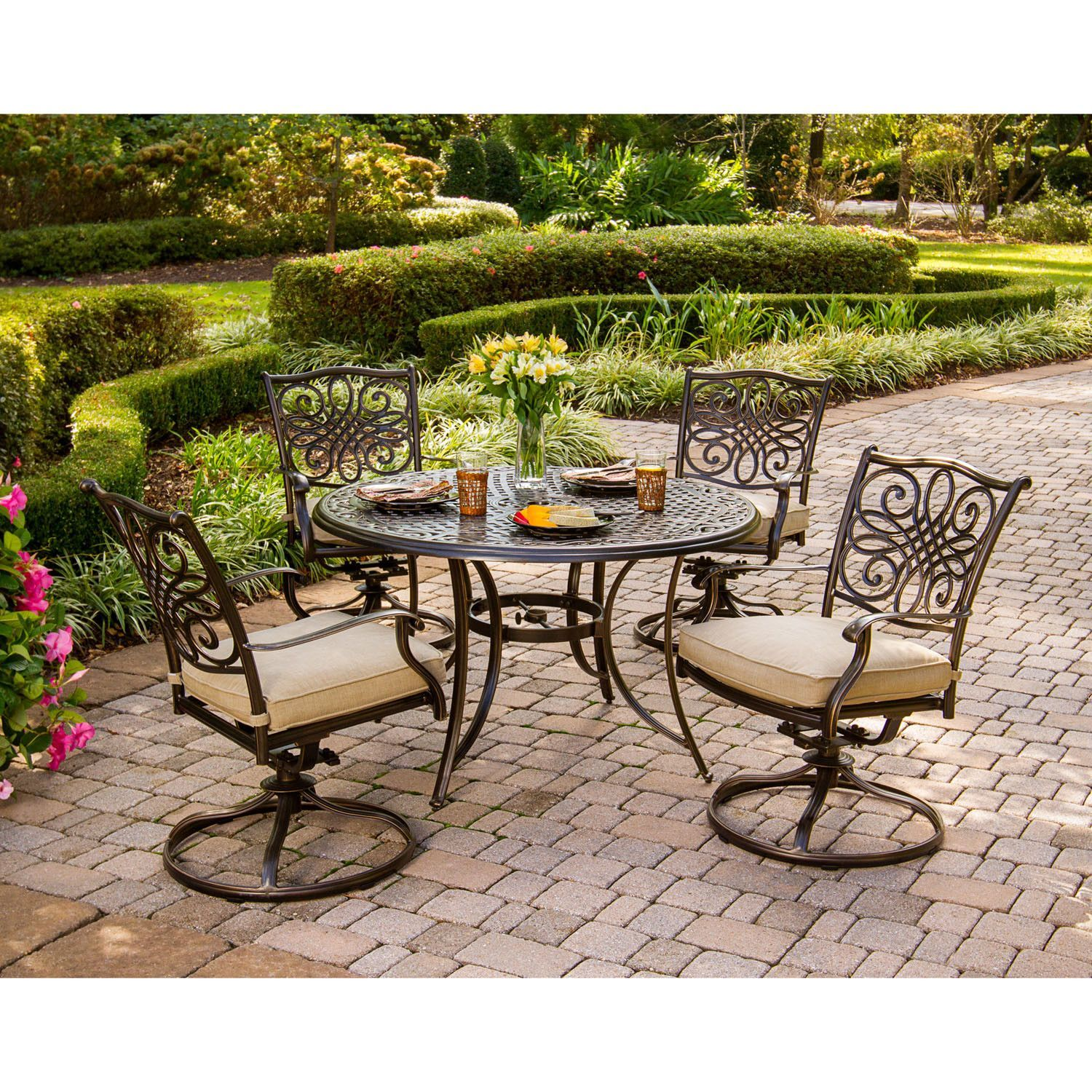 Berniece piece dining set with cushions products pinterest