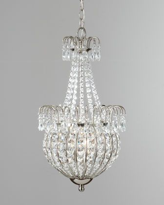 Crystal teardrop pendant light at horchow