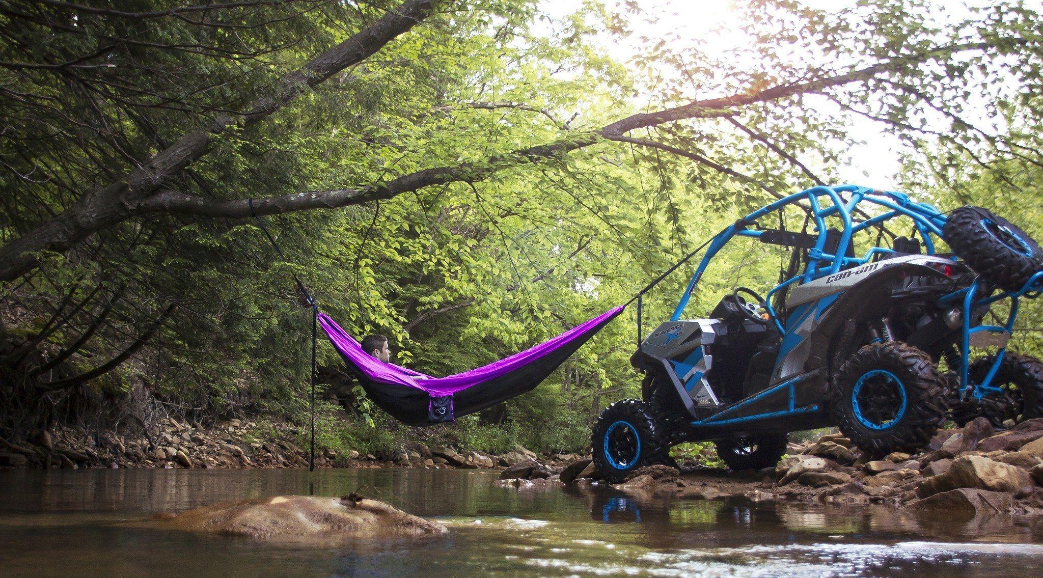 Double lightweight camping hammock u tree straps camping hammock