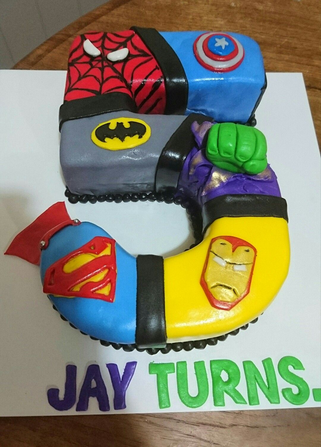 Superhero Number 5 Birthday Cake Kayd 3 Pinterest Birthday