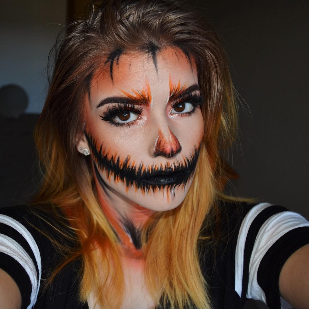 19 Incredible Jack O'Lantern Makeup Looks to Feed Your