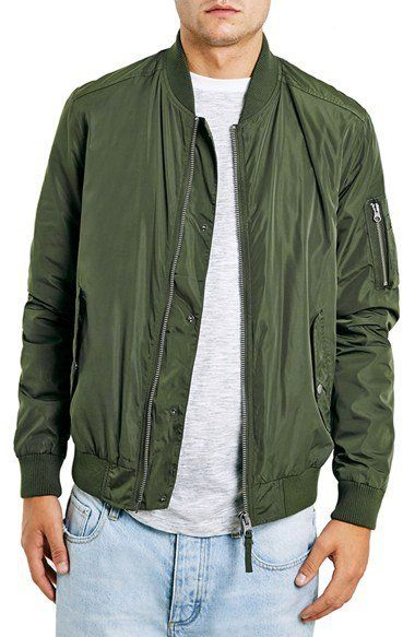 Pin for Later: 23 Gifts For the Stylish Guy in Your Life Who Will Never Guess They Cost $100 or Less  Topman Bomber Jacket ($100)