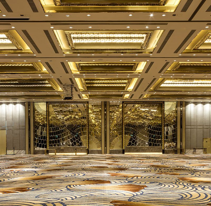 Studio City Macau Projects Ltw Designworks Hotel Lobby Design Hotel Interior Design Ballroom Design