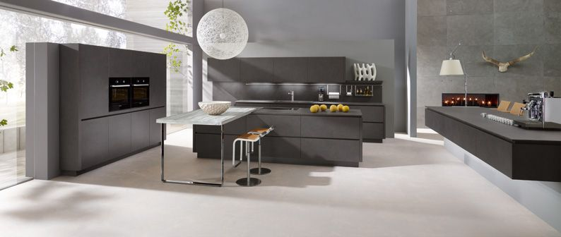 TECHNODESIGN ALNO, Modèle Alnostar Dur, gris lave #cuisine #design