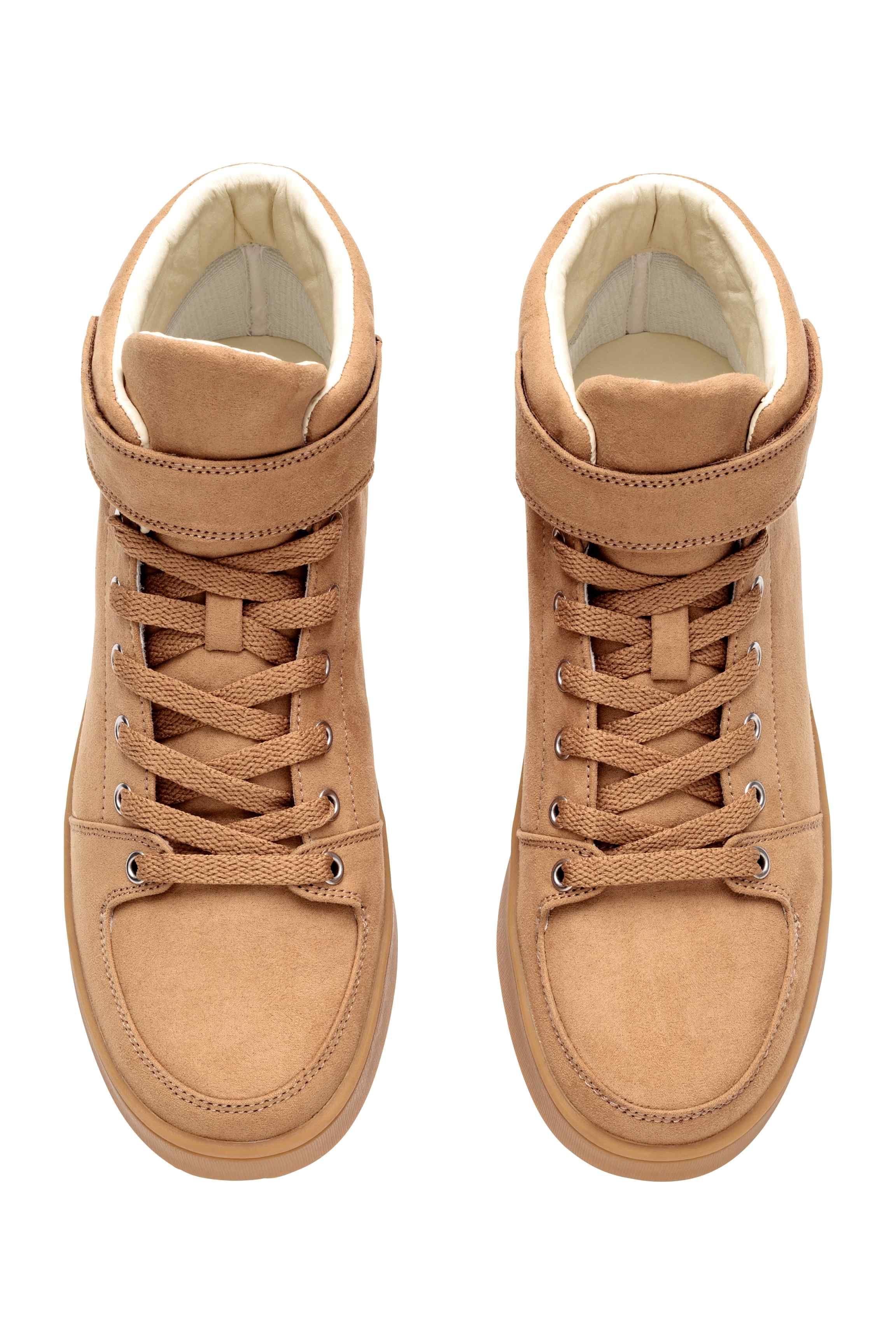Buty Sportowe Do Kostki Bezowy Ona H M Pl Platform Sneakers High Top Sneakers Top Sneakers