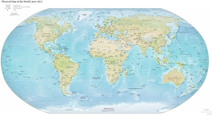 Vector Map World Relief Winkel Tripel Europe Vector format - fresh world map with all countries vector
