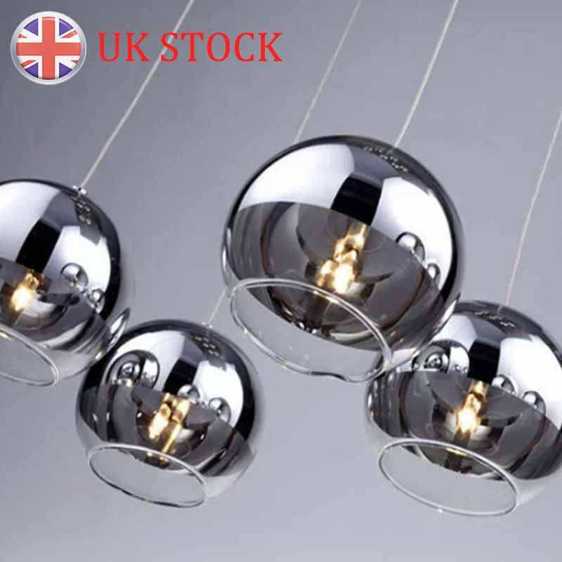 Modern Ceiling Lamp Glass Ball Pendant Light Mirror Chandelier For Cafe Club Uk