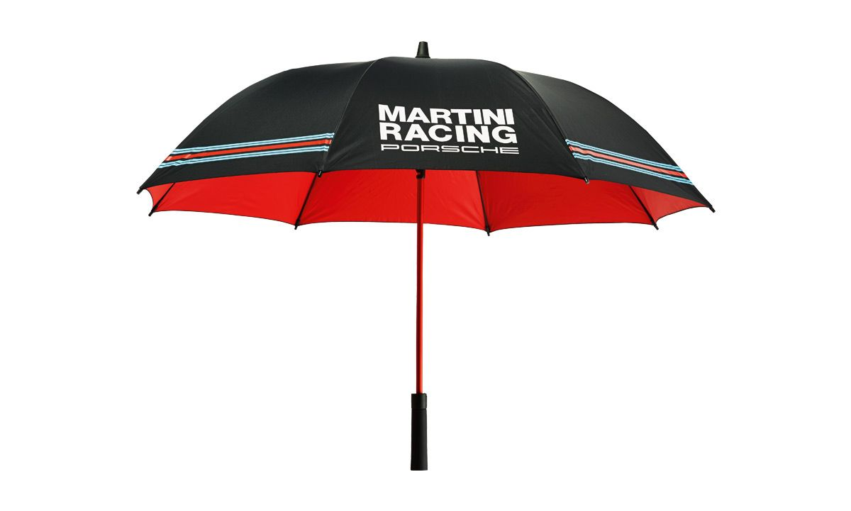 Large Umbrella Able To Fit 2 People Underneath With MARTINI RACING Design Sporty Ergonomically Shaped Handle PORSCHE Logo