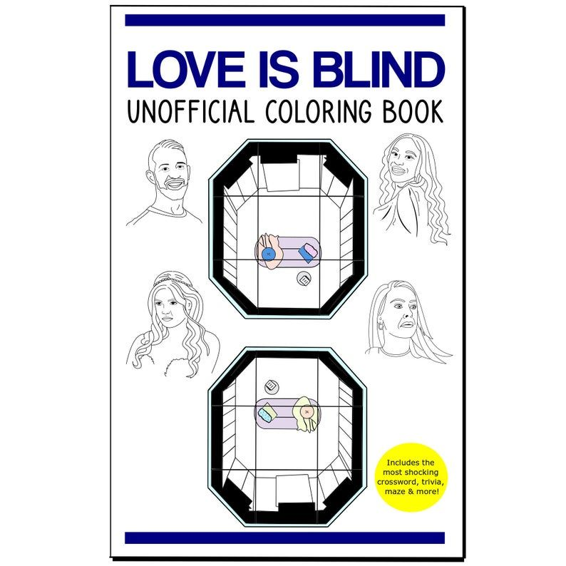 Love Is Blind Coloring Book Netflix Tv Show The Bachelor Etsy Netflix Tv Shows Coloring Books Netflix Tv