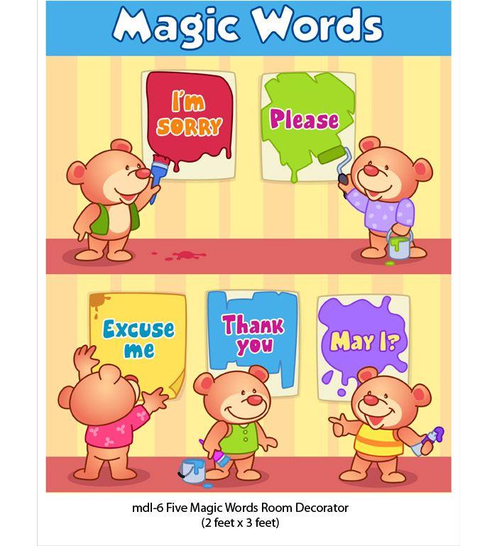 Magic Words Obembe Classroom Decor Classroom Wall