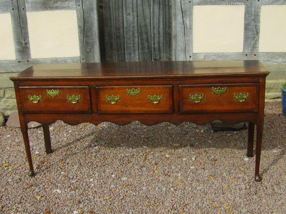 Welsh Oak Dresser Base Original Handles