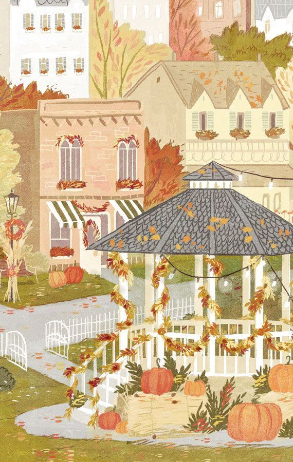 Stars Hollow Autumn Festival Travel Poster - Inspired by Gilmore Girls #churchitems