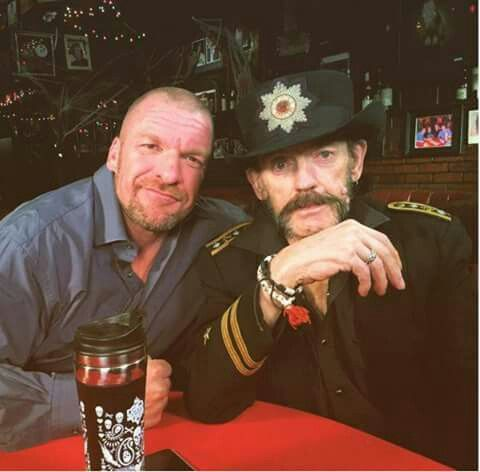 RIP Lemmy     Here is a pic of him with Triple H