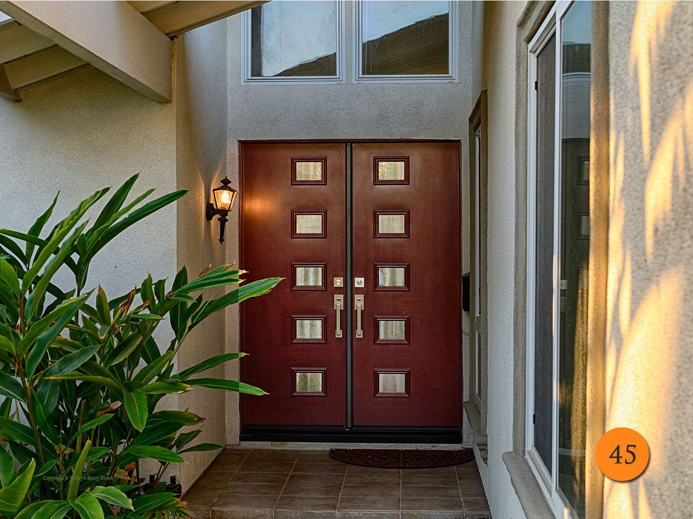 Modern 30 Inch Fiberglass Double Entry Doors 2 30x80 In 5 Foot Wide