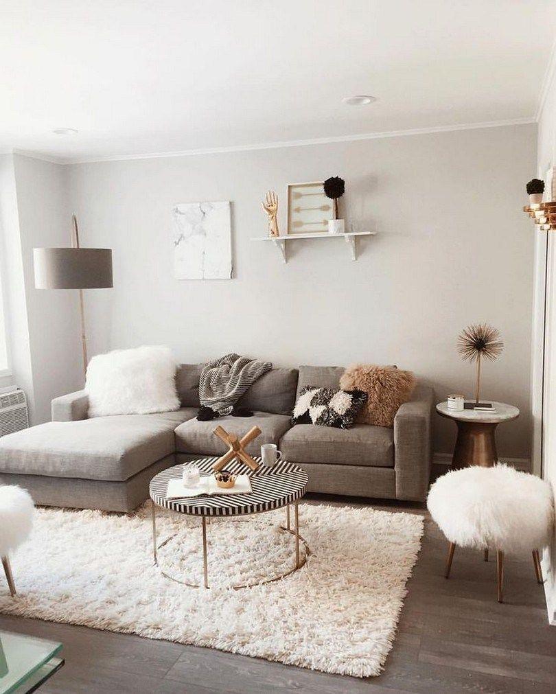 48 Inspiring Modern Living Room Decorations Ideas To Manage Your Home Liv Modern Apartment Living Room Living Room Decor Apartment Small Apartment Living Room
