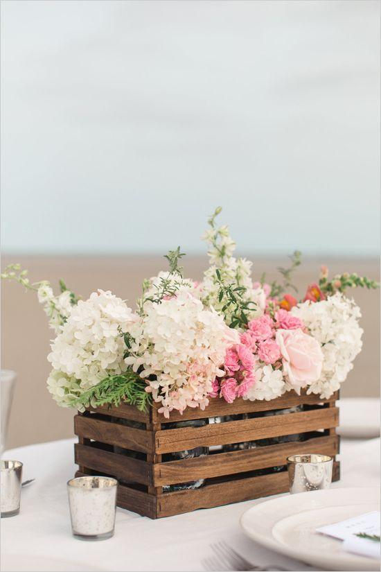 Diy paint stir stick flower box mariage champetredeco mariagedeco fait maisonidées