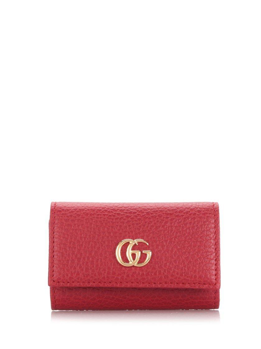 GG Marmont leather key case - Black Gucci PFMa6