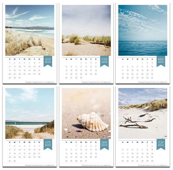 2017 calendar desk calendar beach decor calendar with easel ...