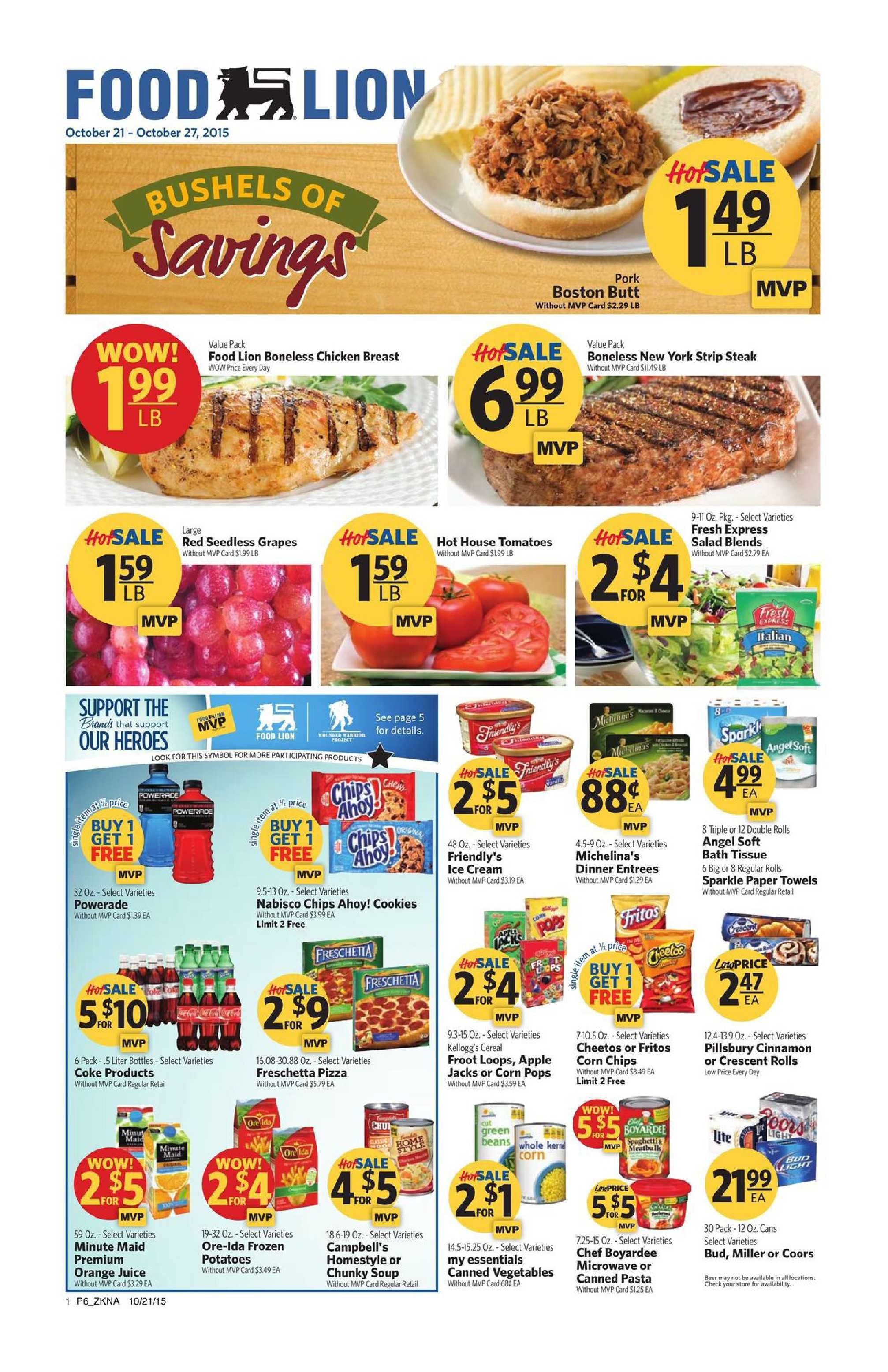 Food lion weekly ad october 21 27 2015 http www