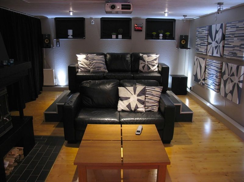 Not A Bad Seat In The House: DIY Home Theater With Elevated Stadium Seating  U2014