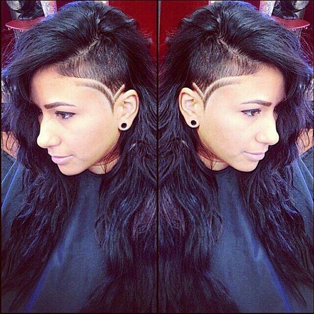 undercut sideshaved hair tattoo
