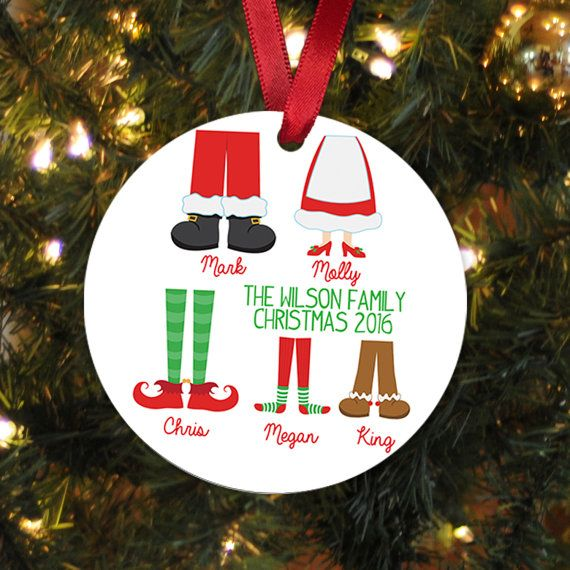Personalized Family Christmas Ornament - Family Christmas Gift ...