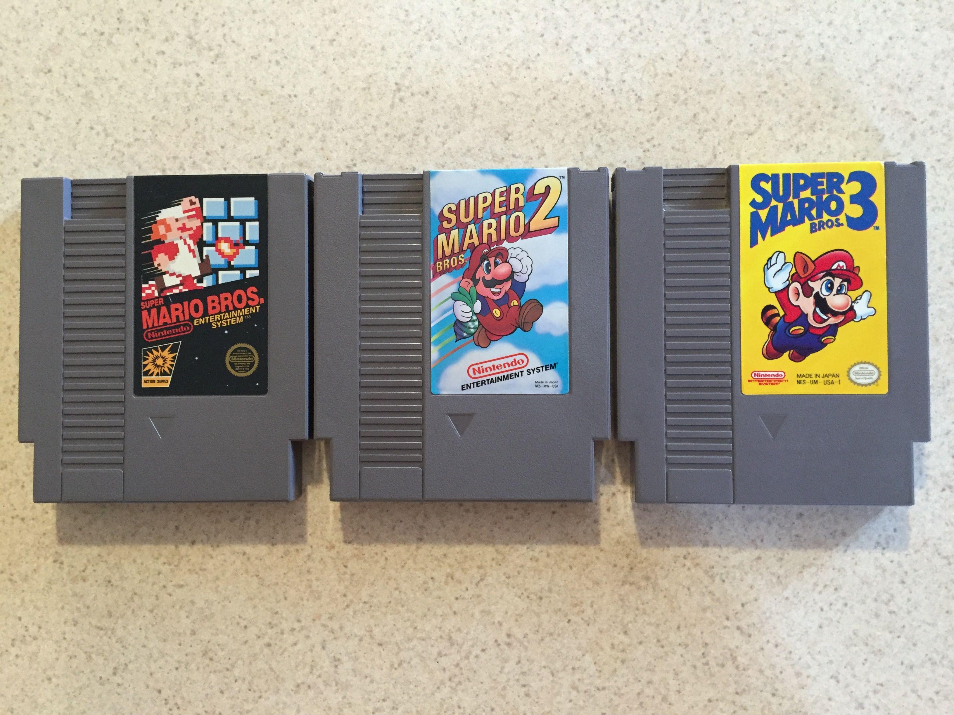 Nintendo Game Cartridges Super Mario Bros 1 2 3 Carolinagamingcompany Nes Console Gaming Console Nintendo