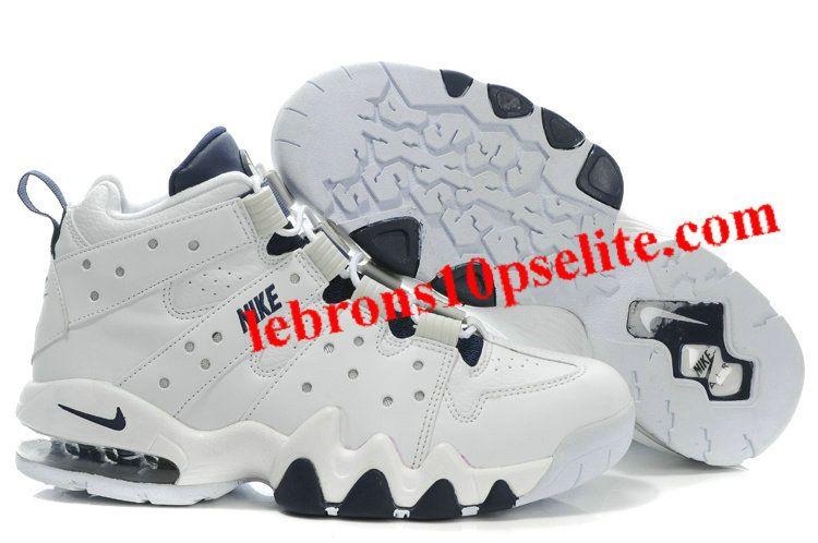 Charles Barkley Shoes - Nike Air Max2 CB 94 White/Dark Blue