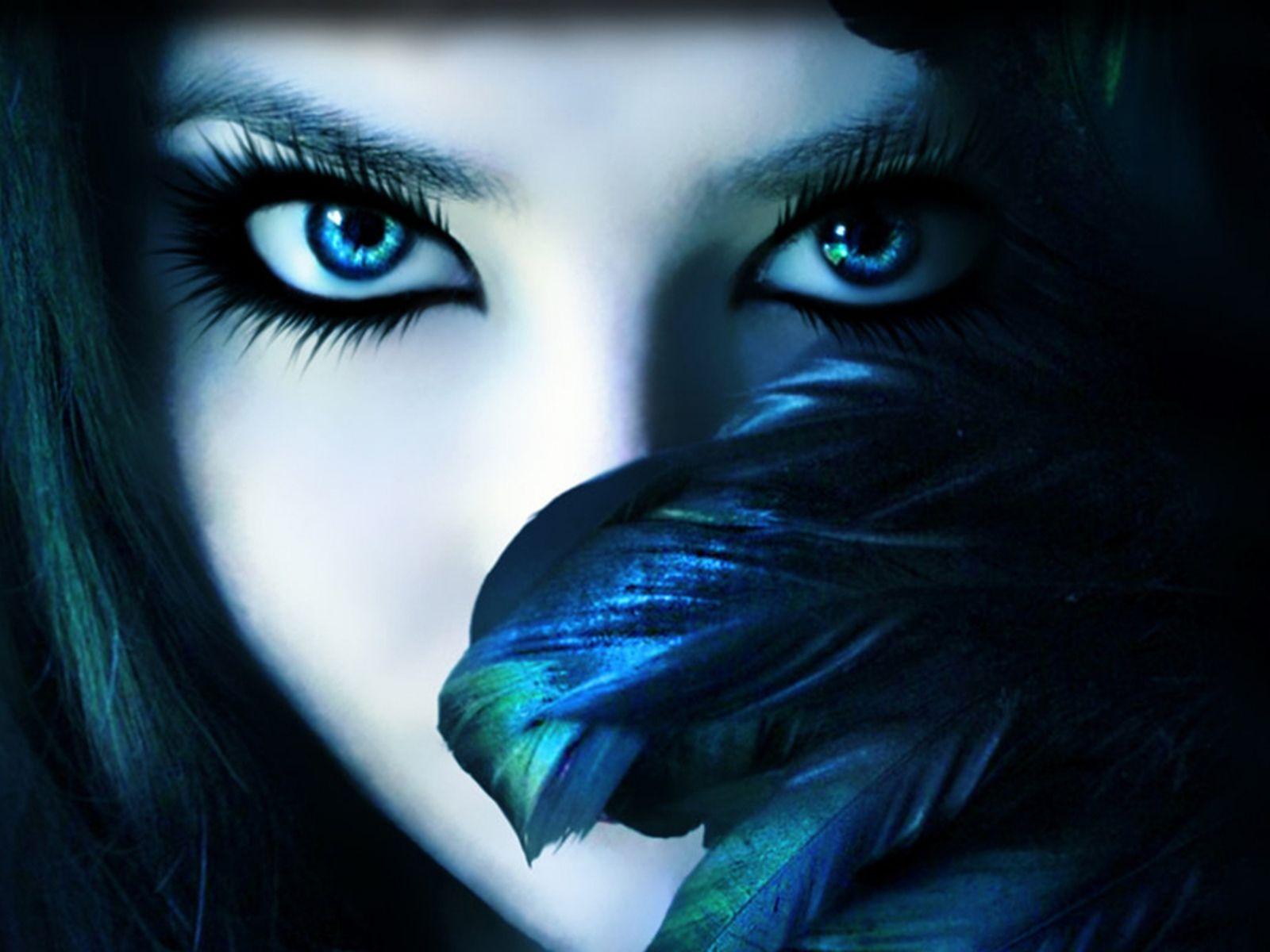 She S Watching Fantasy Women Art Girl Eye Makeup
