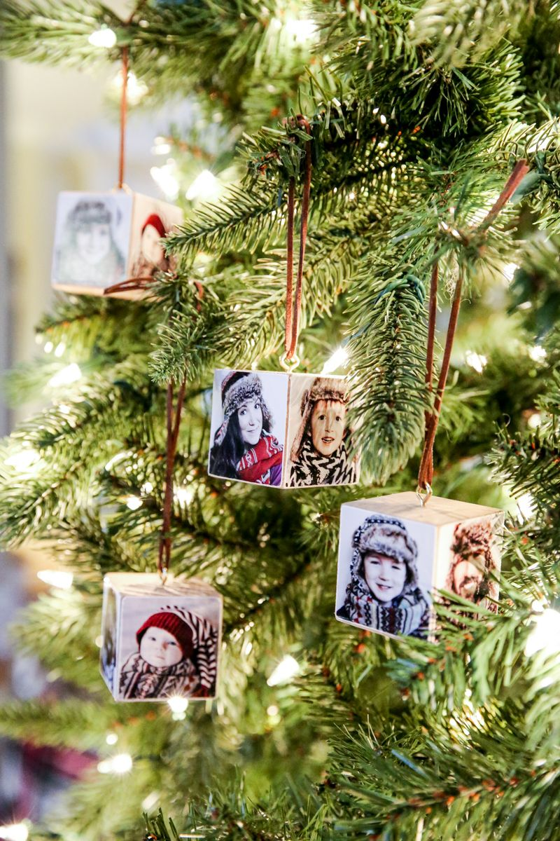 Canon Christmas Photo Wood Block Ornament Bower Power 15 Photo Christmas Ornaments Picture Christmas Ornaments Christmas Ornaments