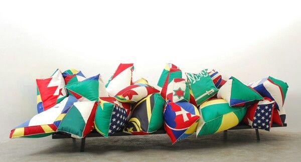 Colorido sofá