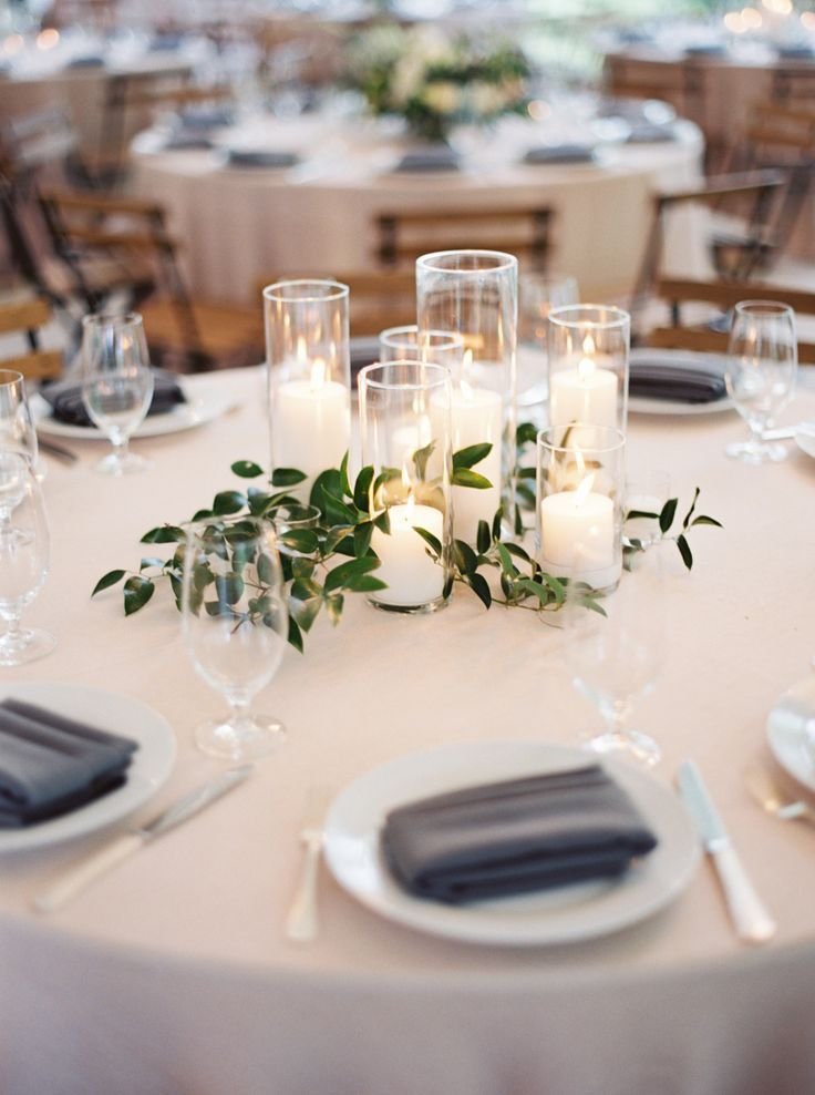 Lush Garden Wedding With Greens Galore Cheap Wedding Centerpieces Greenery Wedding Centerpieces Wedding Centerpieces