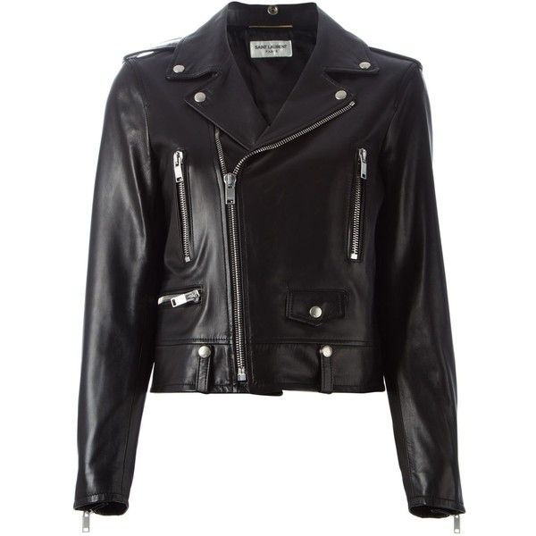 1cc016e9c Saint Laurent Classic Biker Jacket | Style | Black leather biker ...