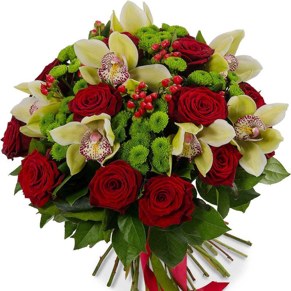 букеты из роз и орхидей картинки